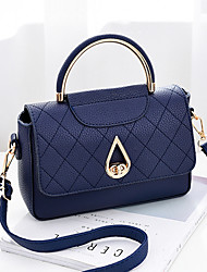 cheap -Women's Bags PU Shoulder Bag for Casual Outdoor All Seasons Black Deep Blue Light Grey sky blue Wine
