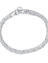 Women's Girls' Chain Bracelet Crystal Friendship Fashion Punk Rock Silver Plated Geometric Jewelry For Wedding Party Special Occasion