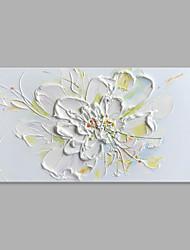 abordables -Peinture à l'huile Hang-peint Peint à la main - A fleurs / Botanique Abstrait Moderne / Contemporain Toile