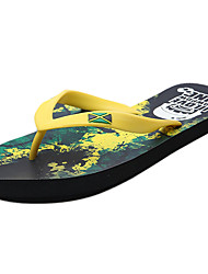 Men's Slippers & Flip-Flops Comfort Summer PU Outdoor Green Flat