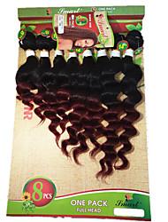 Tresses bouclés Tresse Natté Bouclé Crochet Tricots aux cheveux humains Noir Noir / Blond Fraise Noir / Medium Auburn Noir / Bourgogne