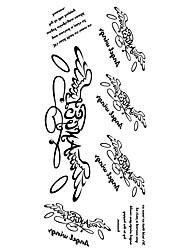 Недорогие -1 pcs Временные тату Временные татуировки Водонепроницаемый Искусство тела руки / рука / запястье