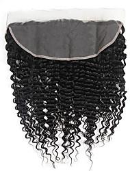cheap -Brazilian Classic Curly 4x13 Closure Swiss Lace Human Hair High Quality Daily