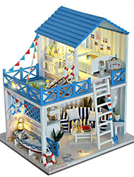 cheap -Dollhouse Toy Kitchen Sets Pretend Play Girl Doll Model Building Kit Doll Toys DIY House Plastics Classic Pieces Unisex Birthday Gift
