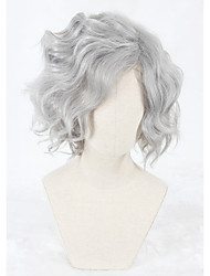 cheap -14inch Short Fate/Grand Order Gankutsuou Wig Gray Synthetic Anime Cosplay Wigs CS-331A