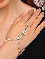 abordables -Femme Chaîne de tennis Chaînes & Bracelets - Strass Mode, Yoga Bracelet Or / Argent Pour Soirée / Quotidien / Rendez-vous