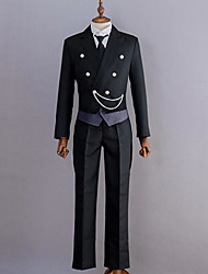 Black deacon black Butler Sebastian tuxedo COSPLAY dress
