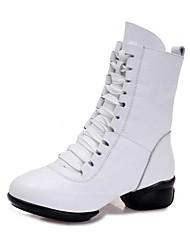 """economico -Da donna Balletto Di pelle Sandali Sneaker Professionale Basso Bianco Nero Rosso 2 """"- 2 3/4"""" Personalizzabile"""