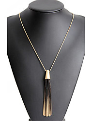 cheap -Women's Pendant Necklace  -  Dangling Style, Tassel, Elegant Gold Necklace For Christmas Gifts, Party, Graduation