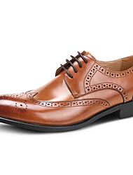 Недорогие -Для мужчин обувь Кожа Весна Осень Формальная обувь Свадебная обувь Назначение Свадьба Для вечеринки / ужина Черный Коричневый Вино