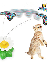 Electric Rotating Butterfly Cat Toys Interactive Cat Toy Spinning Teaser Toy