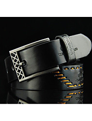 cheap -Men's casual pin buckle belt Men's retro personality belt The cowboy belts Agio hollow-out lacing fashionable joker belt