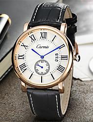 Муж. Модные часы Кварцевый Кожа Группа Черный Коричневый