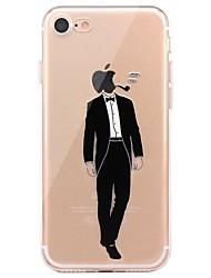 billige -Taske til iphone 7 6 spiller med apple logo tpu blødt ultra-tyndt bagside cover cover iphone 7 plus 6 6s plus se 5s 5 5c 4s 4