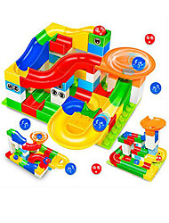 baratos -Pistas para Bolinhas de Gude Modelo e Blocos de Construção Brinquedos 3D Plásticos Para Meninos Crianças Dom 1pcs
