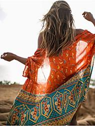 cheap -Women's Boho Cover-Up - Geometric, Print