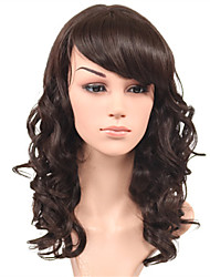 Fashion Body Wave Brown Natural Wig Side Bang for Women Costume Wig Cosplay Synthetic Wigs