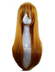 cheap -Costume Wigs / Synthetic Wig Straight Blonde Women's Capless Cosplay Wig Long Synthetic Hair