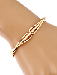 Women's Chain Bracelet Bangles Cuff Bracelet Fashion Hip-Hop Handmade Costume Jewelry Metal Alloy Gold Plated Metallic Geometric Irregular