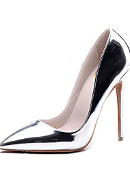 cheap -Women's Shoes Leatherette Summer / Fall Formal Shoes Heels Stiletto Heel Open Toe Rivet / Hollow-out Gold / Silver / Wedding / Dress