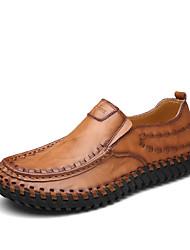 preiswerte -Herrn Schuhe Kunstleder Wildleder Leder Frühling Sommer Komfort Loafers & Slip-Ons Booties / Stiefeletten für Normal Schwarz Gelb