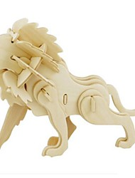 cheap -Robotime 3D Puzzles Jigsaw Puzzle Model Building Kits Wood Model Lion Animal 3D DIY Wood Natural Wood 6 Years Old and Above