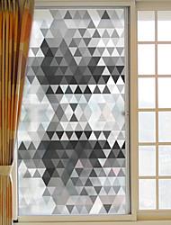 Недорогие -Геометрические линии Стикер на окна,ПВХ/винил материал окно Украшение