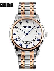 SKMEI Homens Relógio de Moda Relógio de Pulso Quartzo Aço Inoxidável Banda Prata