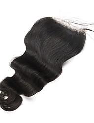 Недорогие -Волна тела 5x5 кружева закрытие малайзийские remy волосы волосы ребенка отбеленные узлы 100% человеческие волосы cara волосы натуральный