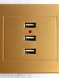 cheap -Type 86 USB*3 Power Outlet  Golden