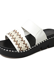 cheap -Women's Sandals Creepers Sweet Spring Summer PU Daily Going out White Black 2in-2 3/4in