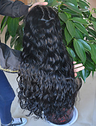 cheap -Luxurious Hair Water Wave Lace Front Human Hair Wigs For Black Women Brazilian Remy Hair Natural Hairline With Baby Hair 8-24inch