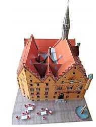 cheap -3D Puzzle Paper Model Paper Craft Model Building Kit Famous buildings DIY Classic Unisex Gift