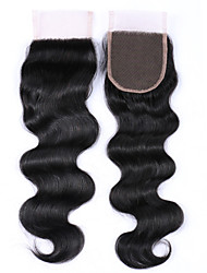 1 Piece 8-20 Inches Grade 8A 100% Brazilian Human Hair Body Wave Lace Closures Free/Middle/3 Part 4x4 Swiss Lace Closures Human Hair Extensions/Weaves