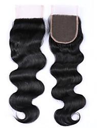 Недорогие -1 часть 8-20 дюймов сорт 8a 100% бразильские человеческие волосы закручивают шнурки тела свободные / средние / 3 части 4x4 швейцарские