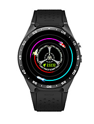 Homens Relógio Inteligente Relógio de Moda Digital Impermeável Borracha Banda Preta Branco
