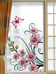 cheap -Print Christmas Window Sticker, PVC/Vinyl Material Window Decoration Living Room Bath Room Shop /Cafe Kitchen