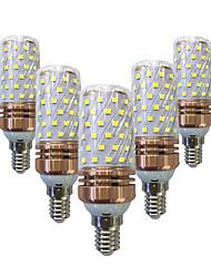 baratos -5pçs 16 W 1200 lm E14 / E26 / E27 Lâmpadas Espiga T 84 Contas LED SMD 2835 Decorativa Branco Quente / Branco 220-240 V / 5 pçs / RoHs