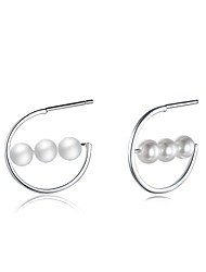 cheap -Women's Earrings Imitation Pearl Personalized Luxury Geometric Circular Unique Design Dangling Style Classic Vintage Bohemian Basic