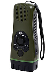 Bxz-c192 Taschenlampe Multifunktions-Hand Radio Alarm Outdoor Notfall Taschenlampe Relief Ausrüstung militärischen Fans installiert Frauen