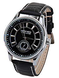 cheap -Men's Quartz Wrist Watch Japanese Hot Sale Leather Band Vintage Fashion Black White