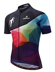 Miloto Maglia da ciclismo Per uomo Manica corta Bicicletta Maglietta/Maglia Striscia riflettente Asciugatura rapida Elastico Spandez