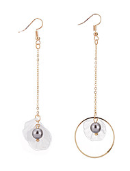 cheap -Women's Long Drop Earrings Imitation Pearl Unique Design Shell Shape For Party Birthday Party/Evening Office/Career