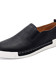 Men's Loafers & Slip-Ons Comfort Spring Fall Customized Materials Casual Party & Evening Office & Career Flower Flat Heel White Black