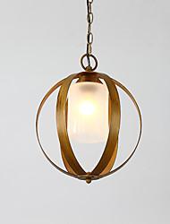 economico -Loft metal amercian stile industriale pittura colore con vetro lampadario europeo lampadario per l'indoor / hotel / sala caffè / decorare