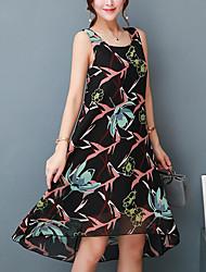 baratos -Mulheres Moda de Rua Bainha Vestido - Fashion, Floral Longo