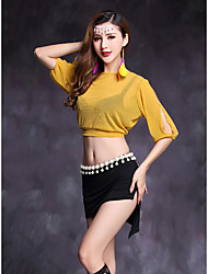 cheap -Belly Dance Outfits Women's Performance Modal Spandex Half Sleeves Natural Skirts Top
