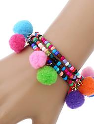 cheap -Women's Charm Bracelet Wrap Bracelet Strand Bracelet Bohemian Turkish Hip-Hop Resin Other Glitter Circle Jewelry Casual/Daily Street Baby