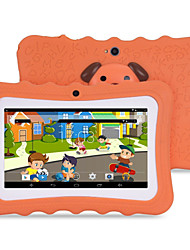 cheap -M711 7 inch Android 4.4.2 Quad Core 1024*600 TFT Screen 512M/8G 2500mah Kid Tablet Orange