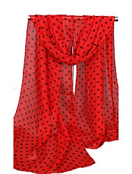 cheap -Women's Chiffon Rectangle - Polka Dot Print / Spring / Fall